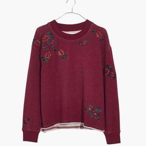 Madewell Embroidered Cutoff Sweatshirt